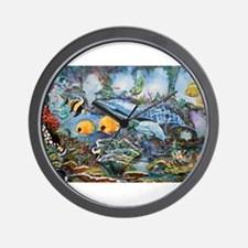 Graffiti Aquatic Playground Wall Clock