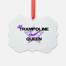 Trampoline Queen Gymnastics Ornament