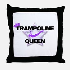 Trampoline Queen Gymnastics Throw Pillow
