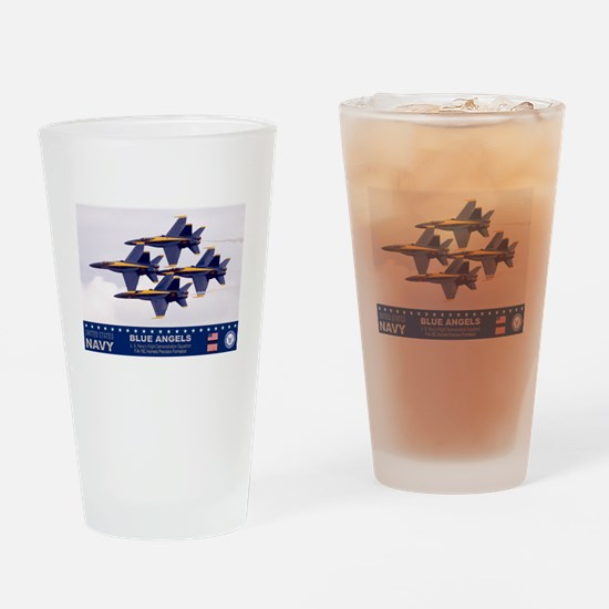 BLUE ANGEL'S F-18 HORNET Drinking Glass