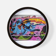 Squirt Gun Graffiti Wall Clock
