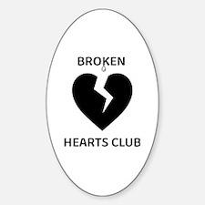 Cute Broken heart Sticker (Oval)