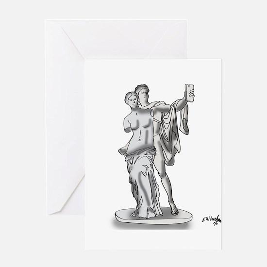 Statue Cartoon 9417 Greeting Card