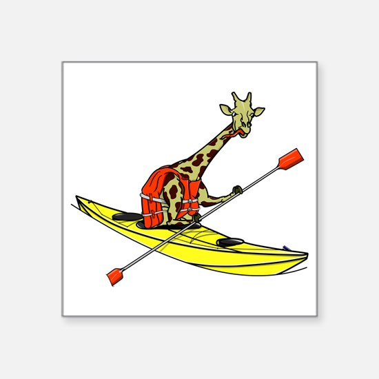 Giraffe Sea Kayaking Sticker