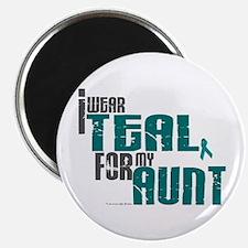 "I Wear Teal For My Aunt 6 2.25"" Magnet (100 pack)"