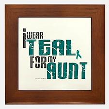 I Wear Teal For My Aunt 6 Framed Tile