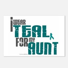 I Wear Teal For My Aunt 6 Postcards (Package of 8)