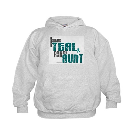 I Wear Teal For My Aunt 6 Kids Hoodie