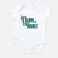I Wear Teal For My Aunt 6 Infant Bodysuit