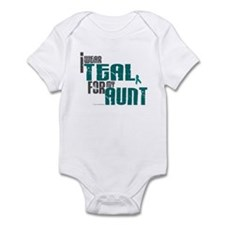 I Wear Teal For My Aunt 6 Onesie