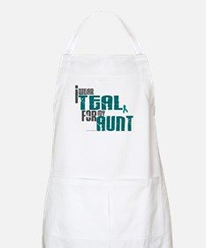 I Wear Teal For My Aunt 6 BBQ Apron
