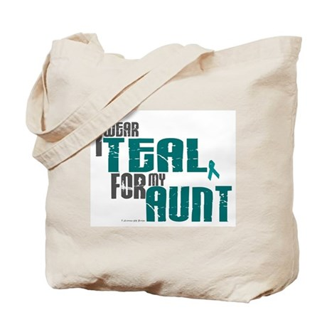 I Wear Teal For My Aunt 6 Tote Bag