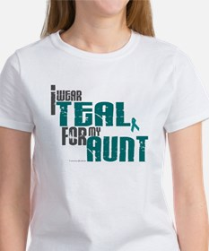 I Wear Teal For My Aunt 6 Women's T-Shirt