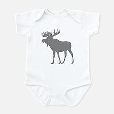 Moose: Grey Infant Bodysuit