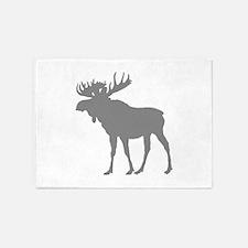 Moose: Grey 5'x7'Area Rug