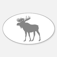 Moose: Grey Sticker (Oval)