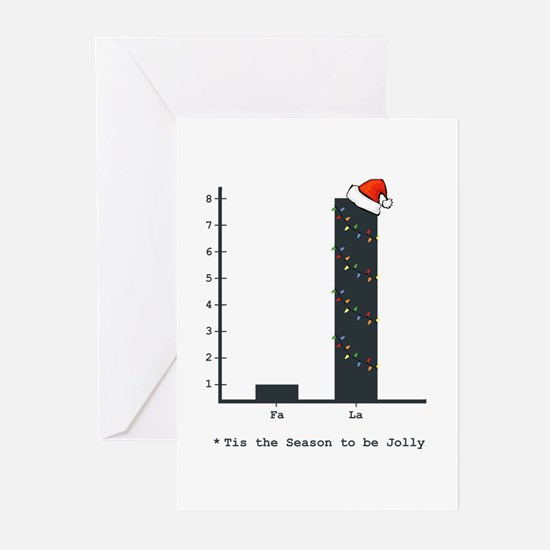 Christmas Bar Graph Greeting Cards