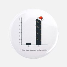 "Christmas Bar Graph 3.5"" Button (100 pack)"
