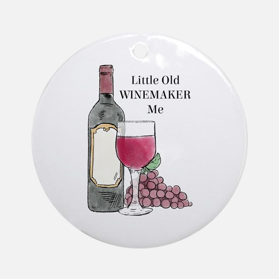 Winemaker Round Ornament