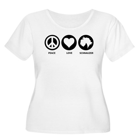 Peace Love Schnauzer Women's Plus Size Scoop Neck