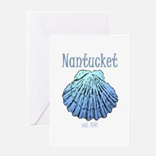 Nantucket Est. 1641 Scallop Shell Greeting Cards