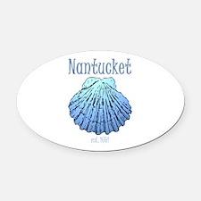 Nantucket Est. 1641 Scallop Shell Oval Car Magnet