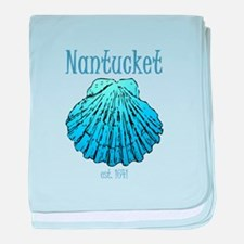 Nantucket Est. 1641 Scallop Shell baby blanket