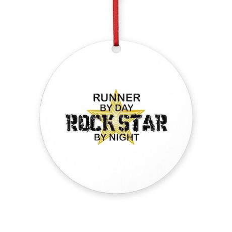 Runner Rock Star Ornament (Round)