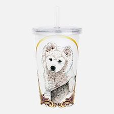 Samoyed Puppy Holiday Acrylic Double-wall Tumbler