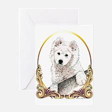 Samoyed Puppy Holiday Greeting Card