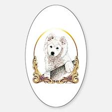 Samoyed Puppy Holiday Decal