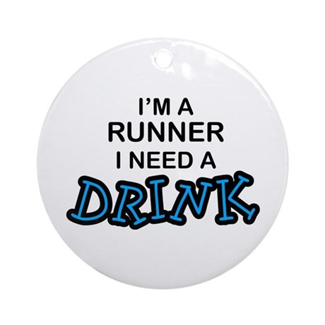 Runner Need a Drink Ornament (Round)