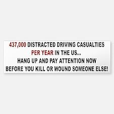 Stop Distracted Driving Bumper Bumper Bumper Sticker