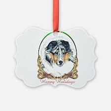 Shetland Sheepdog Blue Merle Happ Ornament