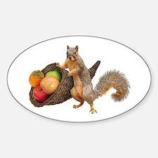 Squirrel with Cornucopia Decal