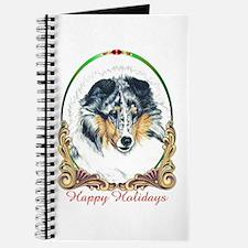 Shetland Sheepdog Blue Merle Happy Holiday Journal