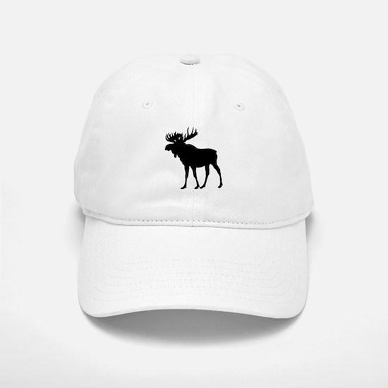 Moose: Black Baseball Baseball Cap