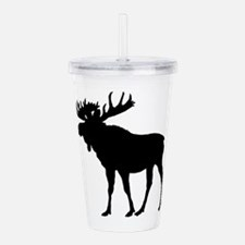 Moose: Black Acrylic Double-wall Tumbler