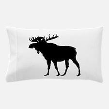 Moose: Black Pillow Case