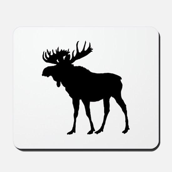 Moose: Black Mousepad
