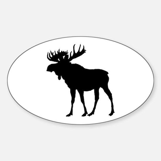 Moose: Black Sticker (Oval)