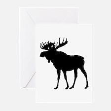 Moose: Black Greeting Cards (Pk of 10)