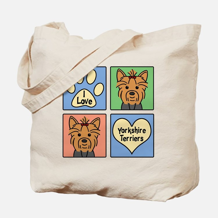 Cute Yorkshire terrier Tote Bag