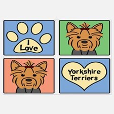 Unique Yorkshire terrier Wall Art