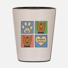 Funny Yorkshire terrier Shot Glass