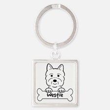 Cool Dog breeds Square Keychain