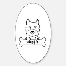 Funny Westie dog Decal