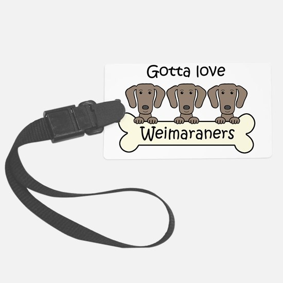 Cute Weimaraner Luggage Tag
