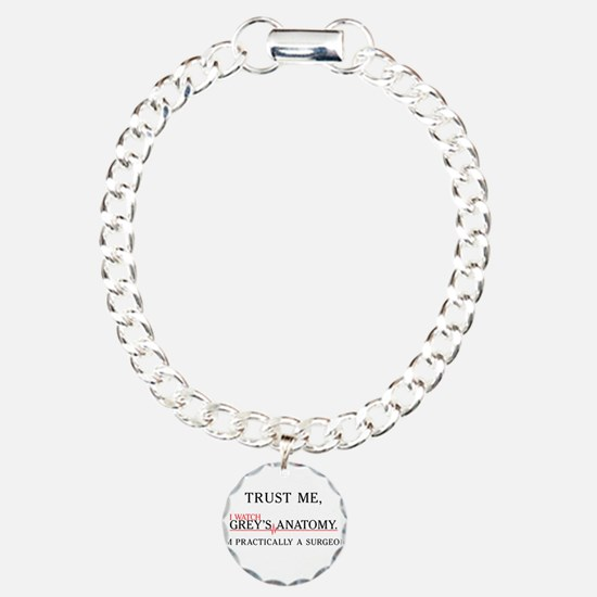 Trust Me, I Watch Grey's Charm Bracelet, One Charm