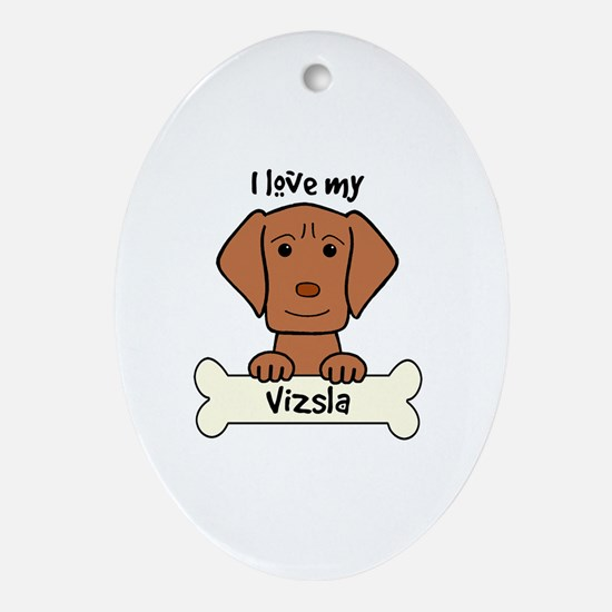 Cute Dog owner Oval Ornament